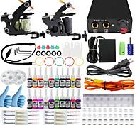 kits de tatouage itatoo® pour débutants avec 2 machines de tatouage débutant 1 de l'unité de puissance 20 de l'encre de pigment
