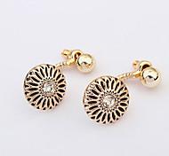 European Style Fashion Wild Sunflower Plastic Earrings
