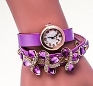 Women's Fashion Watch Gemstone Bracelet Quartz Watch With Windings Cool Watches Unique Watches