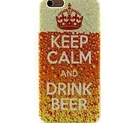 For iPhone 6 Case Pattern Case Back Cover Case Word / Phrase Soft TPU iPhone 6s/6