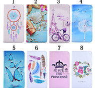 For LG Case Card Holder / Wallet / with Stand / Flip Case Full Body Case Cartoon Hard PU Leather LG