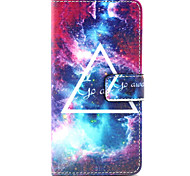 Mysterious star Pattern PU Leather Case with Money Holder Card Slot for BQ Aquaris E5