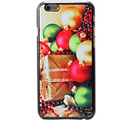 Christmas Style Gift and Bells Pattern PC Hard Back Cover for iPhone 6