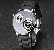 V6 Men's Army Design Double Time Silicone Strap Quartz Watch Cool Watch Unique Watch