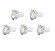 5pcs 8w gu10 16xsmd5630 650lm luz branca quente / frio lâmpadas LED local (220V)