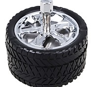 Universal Portable Wheel Style Ashtray for Car Use