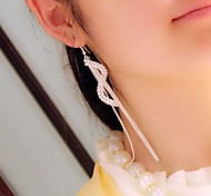 Women's Fashion S-shaped Tassel Earrings