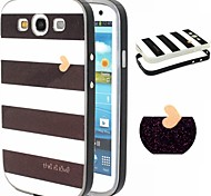 2-in-1 Black Bars Pattern TPU Back Cover + PC Bumper Shockproof Soft Case For Samsung S3/S4/S5/S6/S6 Edge/S6Edge+
