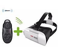 Google Luxury cardboard VR BOX Virtual Reality 3D Glasses For iPhone 6 Plus 6 Samsung + Bluetooth controller