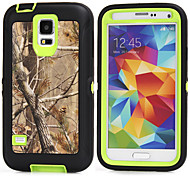 PC+TPU Waterproof Pouches Branch Camouflage Shockproof Case Build-in Screen Protector for Samsung Galaxy S5/S4/S3