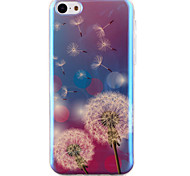 Dandelion Pattern Blu-ray  IMD Cell Phone Case for  iPhone 5C