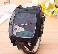L.WEST Men's Camouflage Quartz Watch Wrist Watch Cool Watch Unique Watch