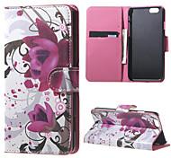 kapok fleur PU cas flip en cuir pour iPhone 6 / 6s