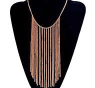 Fashion Chain Jewelry Orange Choker Pendant Long Necklace