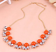 Fashion Charm Jewelry Chain Orange Short Choker Necklace