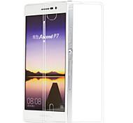 posteriore del silicone copertura trasparente per Huawei p7