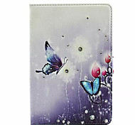 Rhinestone Butterfly Flower Leather for iPad Mini 4(Assorted Colors)