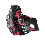 Gants de moto Doigt complet Cuir / EVA L Rouge