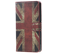 Vintage UK Flag  Flag  Magnetic PU Leather wallet Flip Stand Cover Case For Huawei Ascend Y5/y560
