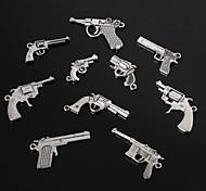 beadia epoca pendenti di fascino del metallo di forma pistola argento antico braccialetto incanta 10 stili
