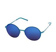 100% UV400 Round Lightweight Fashion Mirrored Sunglasses