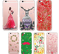 MAYCARI® Colorful Christmas Transparent TPU Back Case for iPhone 6/iphone 6S(Assorted Colors)