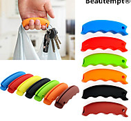 1PCS Multi-function Silicone Shopping Bag Grip Handle Carrier Grocery Holder with Keychain Hole(Random Color