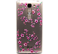 Plum flower Pattern TPU Relief Back Cover Case for  LG Spirit H440N/H422