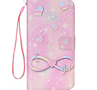 Pink Love  Pattern PU Leather Phone Case For  iPhone 6/6S
