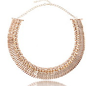 Fashion Golden Pendant Multilayer Short Necklace Jewelry