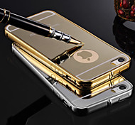 KX Brand Gold Version Metal Frame Acrylic All Mirror Backplane Metal Hard Case for Phone 6 Plus