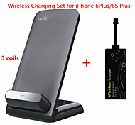 Tesla1856 Qi 3 Coils Wireless Charger Dock and receiver for iPhone 6Plus/6s Plus