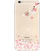 Pink Flower TPU Material Soft Phone Case for iPhone 6 Plus/6S Plus