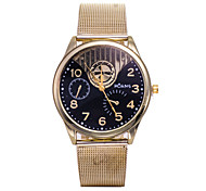 Unisex Fashion Watch The New Gold Belt Male Quartz Watch Ms.