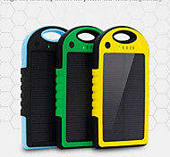 5000mAh Shockproof Solar Power Bank for iPhone6s/6plus/5s Samsung S4/5 and other Mobile (Assorted Colors)
