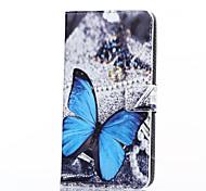 Para Funda Samsung Galaxy Soporte de Coche / Cartera / con Soporte / Flip Funda Cuerpo Entero Funda Mariposa Cuero Sintético Samsung