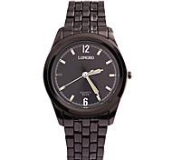 Black Steel Strip Waterproof Watch Men Dial