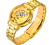 Men's Watch The Steel Chain Gold Hollow Mechanical Watches