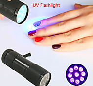 New! Mini UV ULTRA VIOLET 9 LED FLASHLIGHT BLACK LIGHT Torch Light Lamp