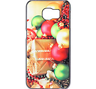 Christmas Gift and Bell Pattern PC Hard Back Cover Case for Samsung Galaxy S6