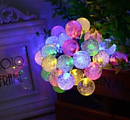 King Ro solar 19.7ft 30LED Christmas Ball Light Outdoor Waterproof String Light