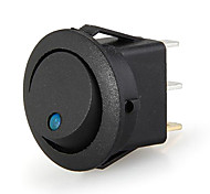20 Snap In Round Blue LED Rocker Indicator Switch 3 Pin On/Off 12V DC