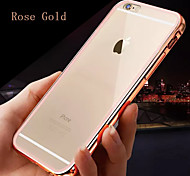 armação de metal colorido, mais caixa do telefone de material de combinação de volta transparente para iphone 6 / 6s (cores sortidas)