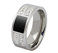 Z&X® Fashion Atmosphere Scrub Titanium Steel Ring Band Rings Party / Daily / Casual 1pc