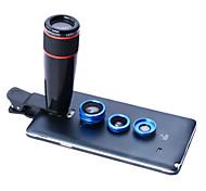 4en1 apexel 12x teleobjetivo, ojo de pez y macro&Lente gran angular 0.65x para Samsung Galaxy y fichas móviles (color clasificado)