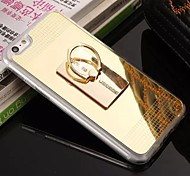 Straight Row Diamond Ring Buckle Plated Mirror Holder TPU Material Cell Phone Case for iPhone 6/ 6S (Assorted Colors)