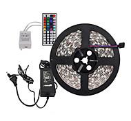 5m 300x5050 SMD RGB LED-Streifen und 44key Fernbedienung und 6a us eu uk au Netzteil (AC110-240V)