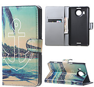 Anchor and Trees  Wallet PU Leather Stand Case for  Microsoft Nokia Lumia 950XL N950XL