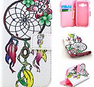 Campanula Pattern PU Material Flip Phone Case for Samsung GALAXY G360/J1/G5308/9082