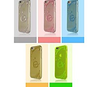 e motif affaire mince transparent pour iPhone 6 plus / 6s plus (couleurs assorties)